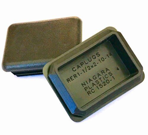 "ID 1.74/""-1.83/"" L 1.24/""-1.33/"" W 2/"" x 1-1//2/"" Rectangular Plastic CAPLUGS LDPE"
