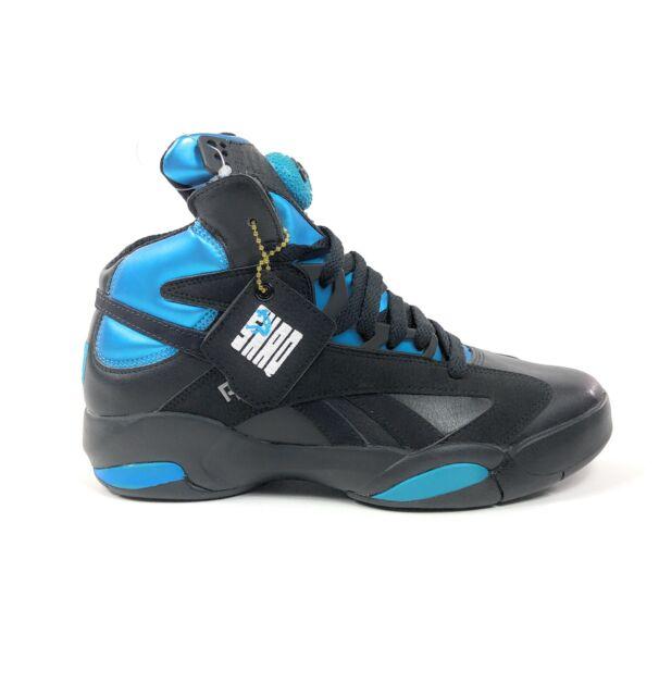 Reebok Shaq Attack Pump Blue Azure Black Mens 6.5 Basketball Shoes Retro V55083