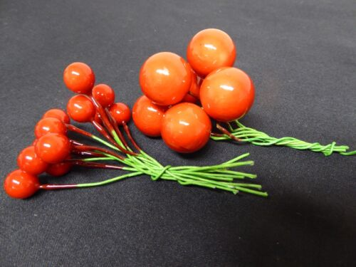 4 couleurs 19 berry picks-décoration tailles assorties pour art floral ou usage domestique