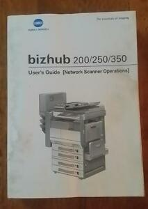 konica minolta bizhub 200 250 350 user guide books ebay rh ebay com sg Konica Minolta Bizhub 350 Copier Konica Minolta Bizhub 350 Manual