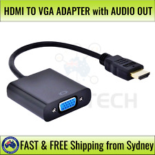 HDMI Male to VGA Female Video Cable Converter Adapter 1080P With 3.5mm Audio Out