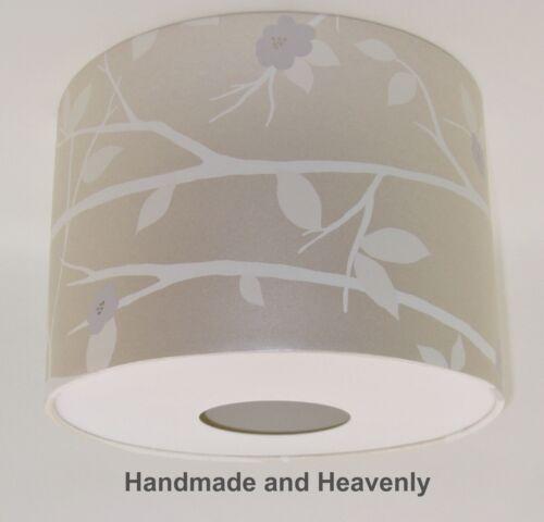 NEW Lampshade Handmade with Laura Ashley Cottonwood Natural Wallpaper FREE P/&P