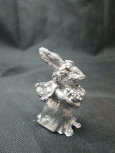 Dollhouse Miniature Unfinished Metal Large Wedding Rabbit Bride