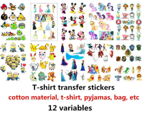 t-shirt transfer stickers printing transfer iron on harry Potter baymax Frozen