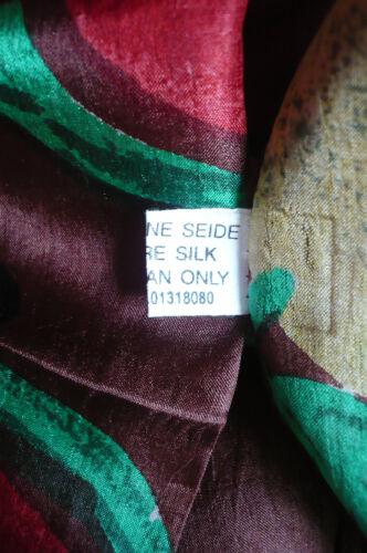 top a2 100/% soie écharpe en soie 180 x 50 marron des écharpe étole foulard neuf