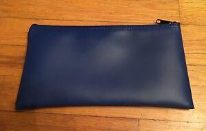 5-BLUE-Vinyl-Bank-Deposit-Money-Bags-Cash-Coins-Tool-Organizer-10-5-5-5-Inches