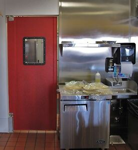 Details About 36 X 84 Commercial Restaurant Kitchen Doors Red Swinging Traffic Door New