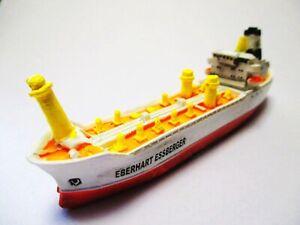 Barco-Modelo-Tanker-Eberhart-Essberger-12CM-Poly-Hamburger-Hafen
