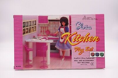 NEW GLORIA DOLL HOUSE FURNITURE Classic Small Kitchen With Island set 94016