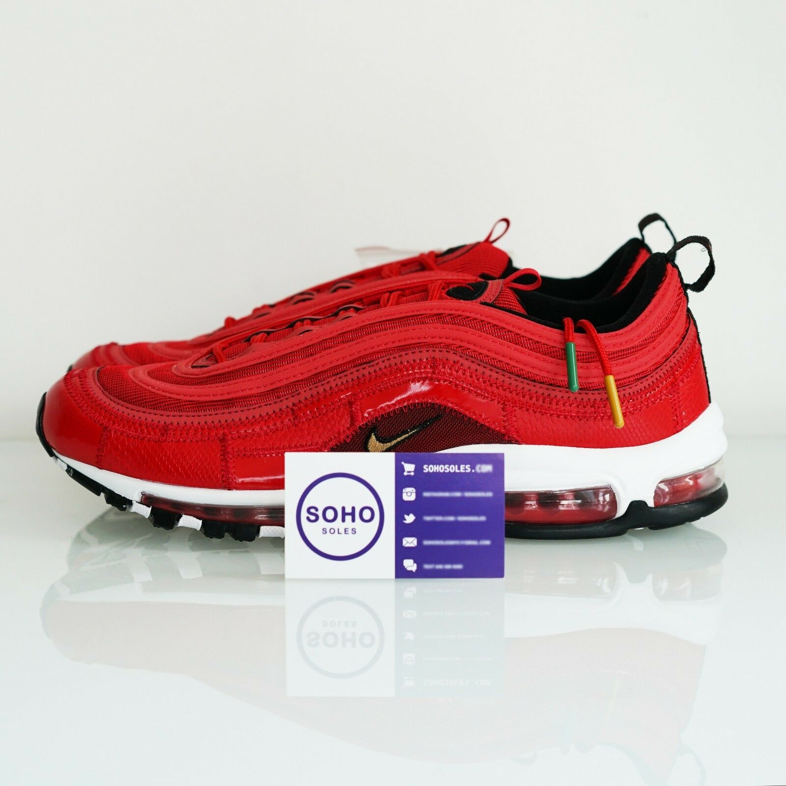 09058f0aa6 NIKE AIR MAX 97 CRISTIANO RONALDO PORTUGAL PATCHWORK AQ0655 600 8 CR7 SIZE  nztdcm1083-Athletic Shoes