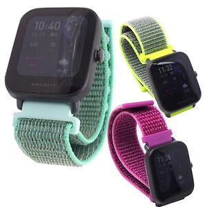 Cinturino-braccialetto-nylon-SPORT-RUN-20mm-per-Huami-AmazFit-Pop-Bip-U-SR2E