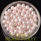 New 144pcs 8mm Round Czech Glass Pearl Loose Spacer Beads Baby Pink