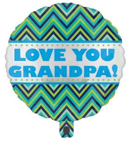 Love You Grandpa Grandad Celebrate Birthday Party Foil Balloon Decoration #31355