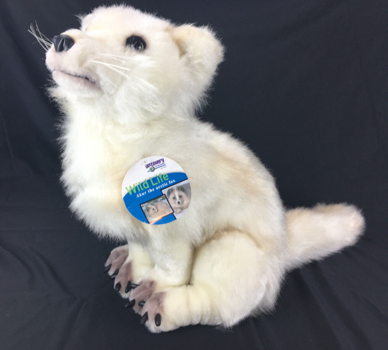 DISCOVERY CHANNEL 29  Akur Soft bianca Arctic Fox Stuffed Plush Animal