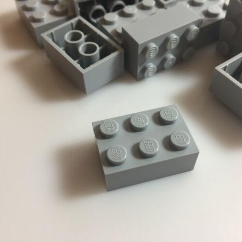 20 NEW LEGO 2x3 Medium Stone Grey Bricks 3002//4211386 walls modular star wars