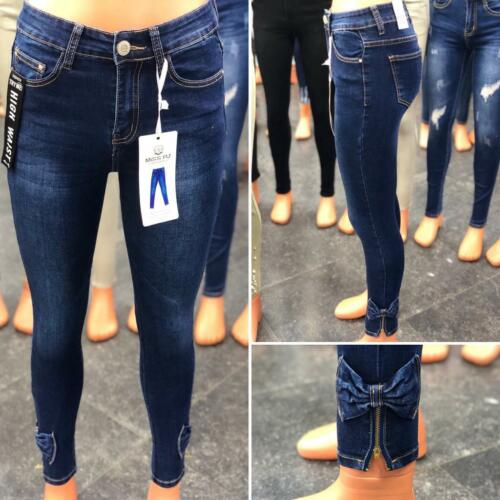 Women High Waist Stretch Ripped Skinny Slim faded Denim Pants Jeans Jeggings