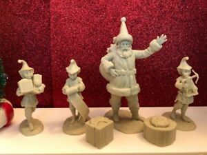LOD-Ents-Set-09-North-Pole-Set-Santa-and-his-Elves-four-figures-amp-two-accs