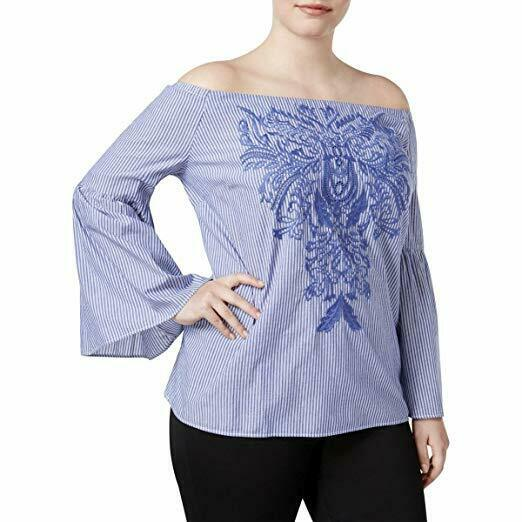 INC International Concepts Embroidered Off-The-Shoulder Top