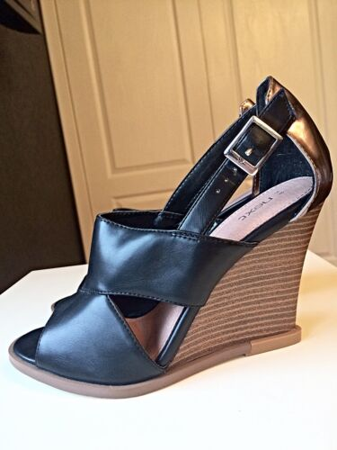 pelle caviglia 38 alla cinturino nera donna con Successivo Sandalo con Wedge alto tacco Designer 5 in da Oa8TwOq