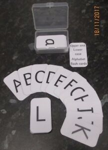 Alphabet Flash Cartes minuscules et majuscules cartes (52 cartes par boîte) Boîte plastique  </span>