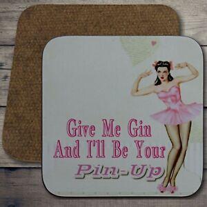 Gin Lady Pin Up Girl Gin Gin Coaster Retro Gin Coaster Gin Retro Retro Gin