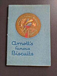 Original-C-1935-Arnott-039-s-Famous-Biscuits-Colour-Catalogue-41-pg-Envelope-Scarce