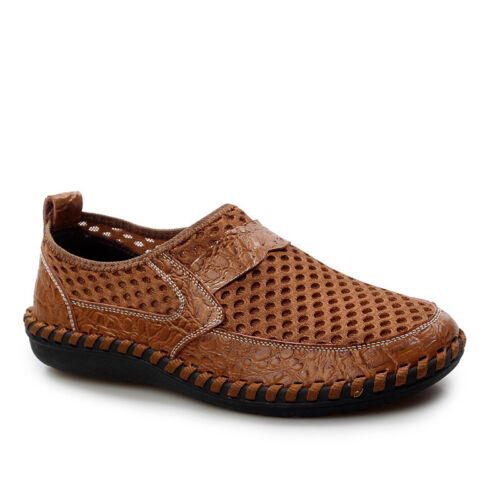Men/'s Breathable Mesh Shoes Summer Slip On Loafers Casual Driving Flat Shoes