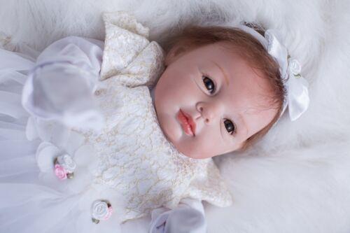 "Lifelike Reborn Baby Dolls Girl Newborn Alive Realistic Soft Vinyl Handmade 22/"""