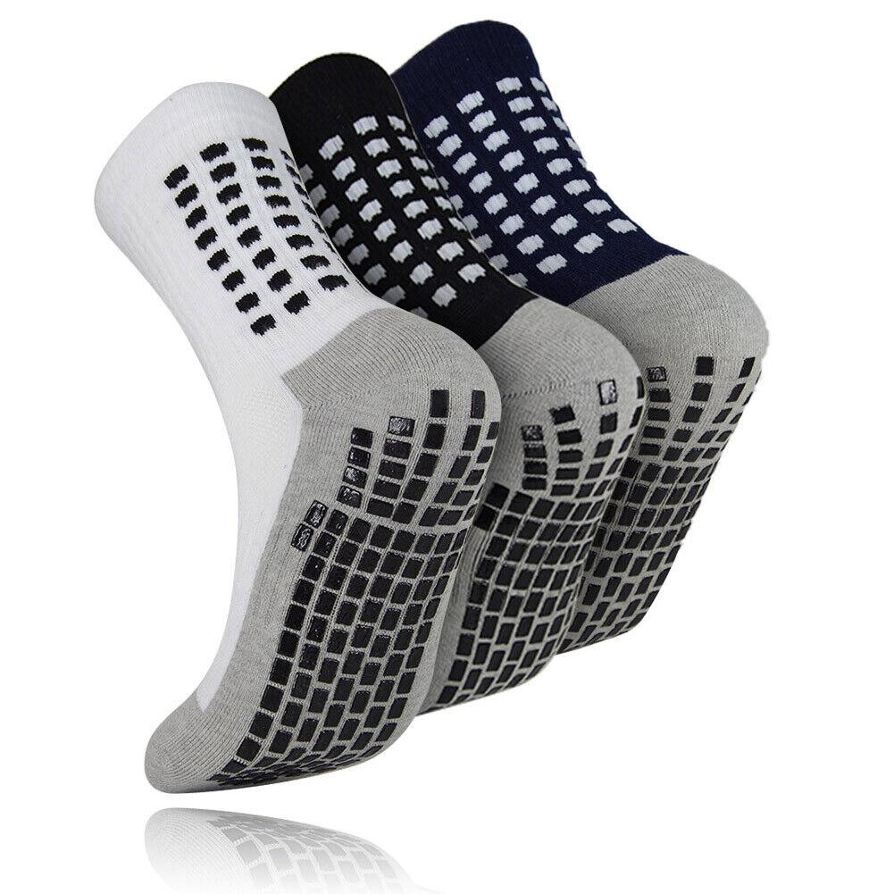 3Pair Men Women Non Slip Silicone Grip Socks Yoga Exercise Hospital Nurse Sock