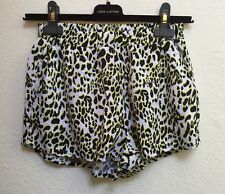 H M H&M Womens Shorts Leopard Animal Print Neon Soft Booty Size 4