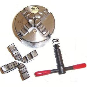 Mandrin-ACIER-de-tour-D-80mm-DIN6350-4-Mors-concentriques-inter-amp-exter-Cle