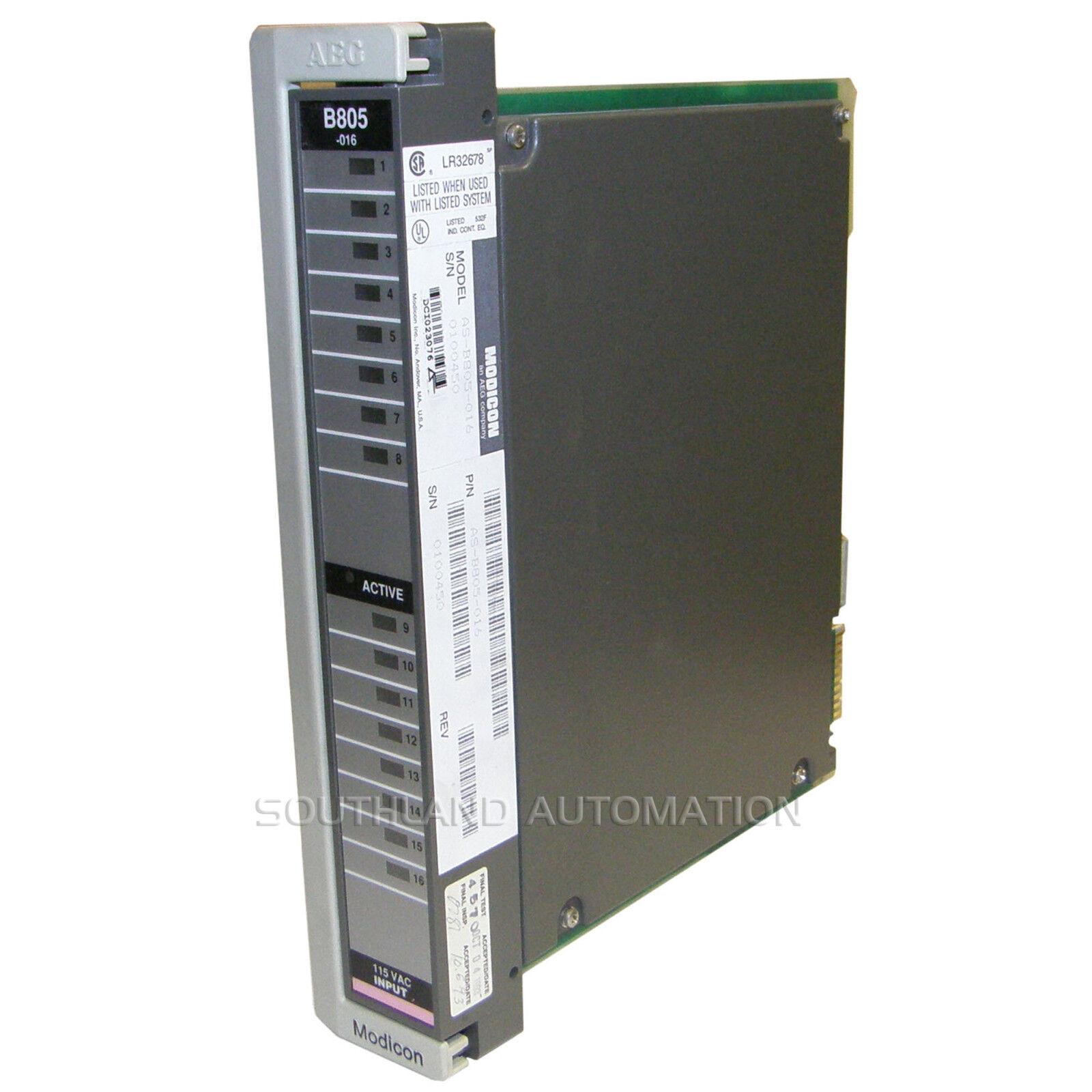 MODICON AS-B805-016 115 VOLT 16PT INPUT MODULE--SA
