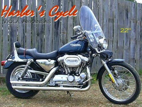 "XL 883 1200 Harley Davidson Sportster Clear 22/"" Windshield w//Chrome Hardware"