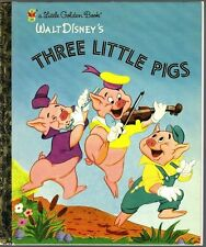 Children's Little Golden Book THREE LITTLE PIGS Disney NEW