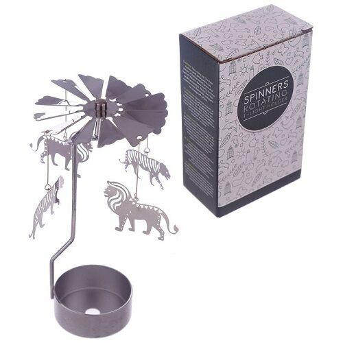 Lion Tealight metal spinner