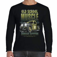 Hot rod 58 Men's Long Sleeve T Shirt Old Skool American Vintage Classic Car 44