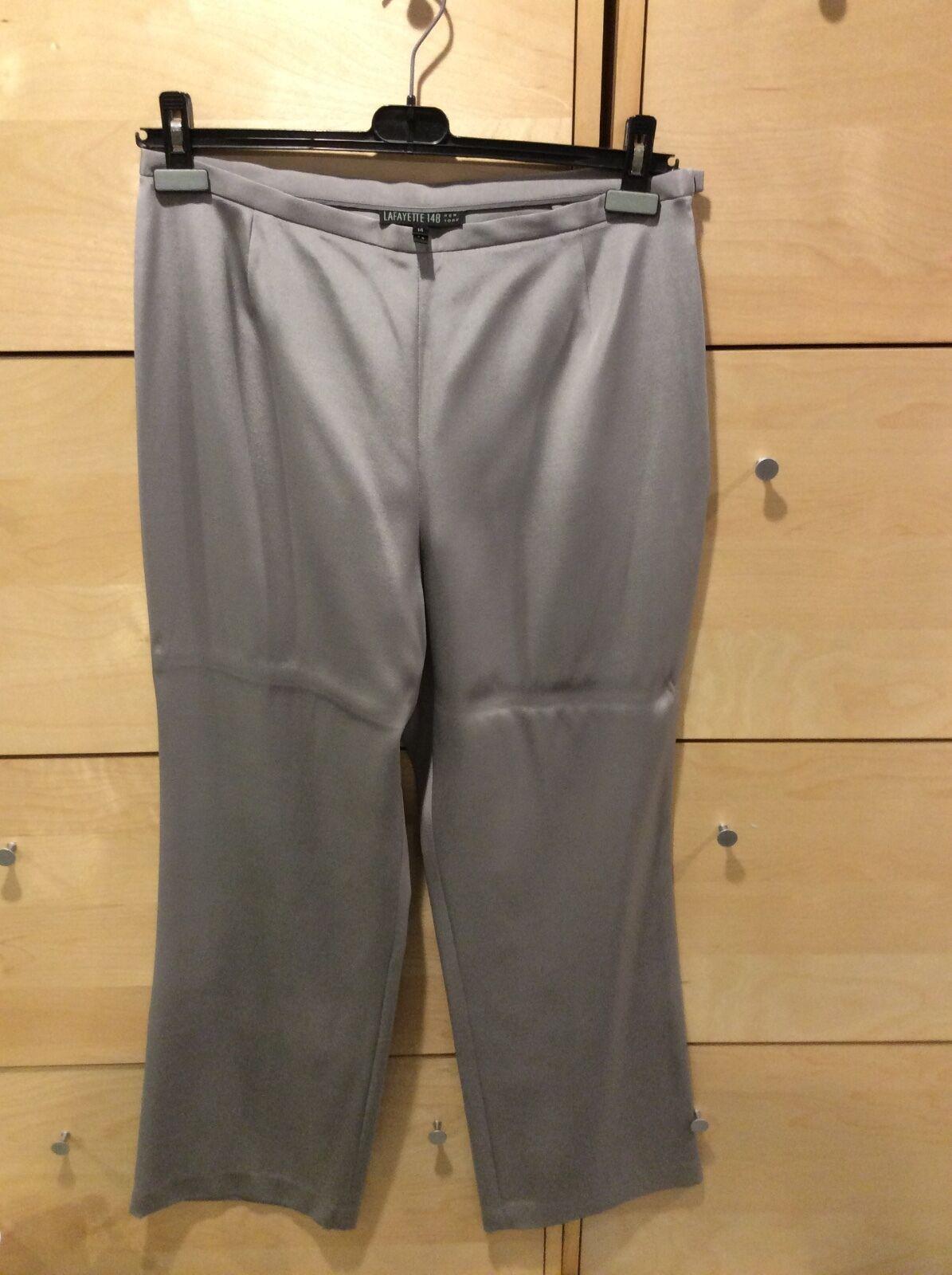 Lafayette 148 women silk pants size 14