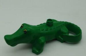 1x-LEGO-DUPLO-ANIMAL-CROCODILE-VERT-Alligator-reptiles-Zoo-Parc-Safari-2284