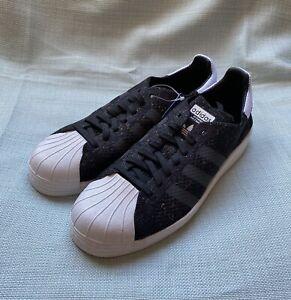 Details about Adidas SUPERSTAR 80S PRIMEKNIT Sz 9.5 Mens BlackWhite New