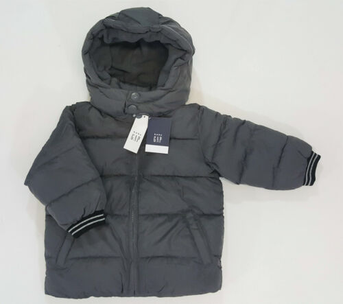 NWT Baby Gap Toddler Boys Size 2 2t Gray Warmest Jacket Puffer Coat