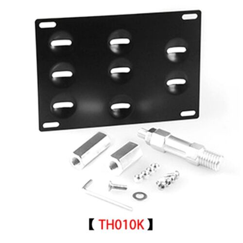 113x19.5mm Car Modified License Plate Frame Mount Tow Hook Bracket Holder TH01SL