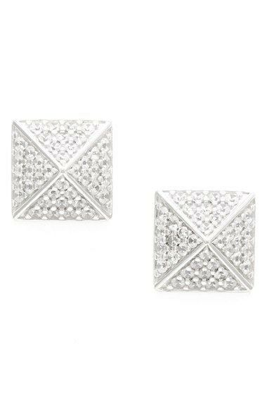 Sugar Bean 121629 Pavé Pyramid Stud Earrings  110