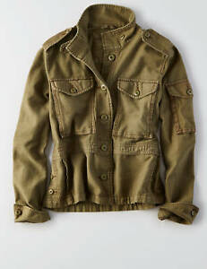 American-Eagle-Outfitters-AEO-Women-Military-Utility-Crop-Jacket-M-L-XL