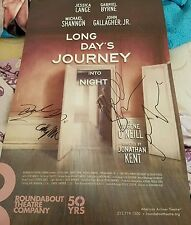 Long Day's Journey Signed Broadway poster Michael Shannon John Gallagher JR RARE