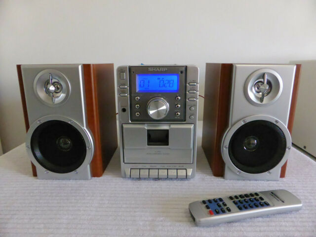 SHARP CD Player XL-MP2H MICRO COMPONENT SYSTEM with Speakers WINDOWS MEDIA MP3
