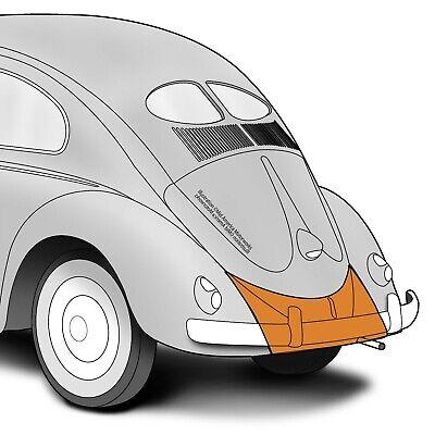 VW Vintage Parts Apron Rear Without Tailpipe Cutout,Beetle /'68-/'73