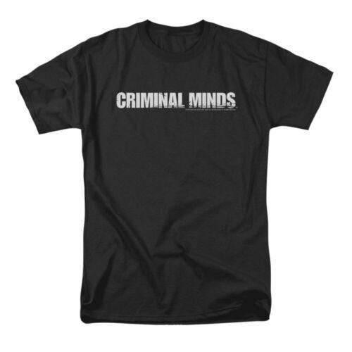 Criminal Minds Men/'s  Logo T-shirt Black Rockabilia