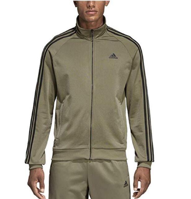 NEW ADIDAS MEN'S Essentials 3 Stripes Tricot Track Jacket