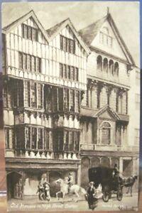 Details about UK Art Postcard OLD HOUSES HIGH STREET EXETER Devon Eng  Worth's Sidney Endacott