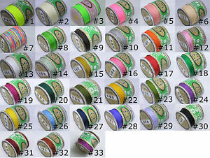 Cord-Thread-Nylon-Knot-Beading-Macrame-50-COLORS-1mm-136-Yards-Spool